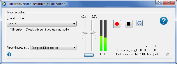 PolderbitS Sound Recorder and Editor Screenshot
