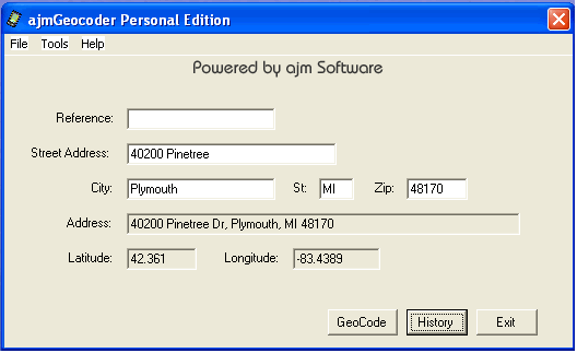 ajmGeocode PE Screenshot