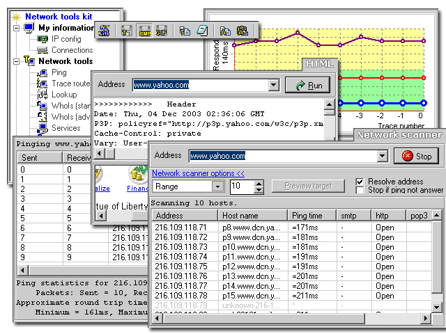 Network tools kit Screenshot 1