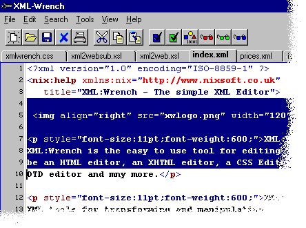 XML:Wrench Screenshot 2