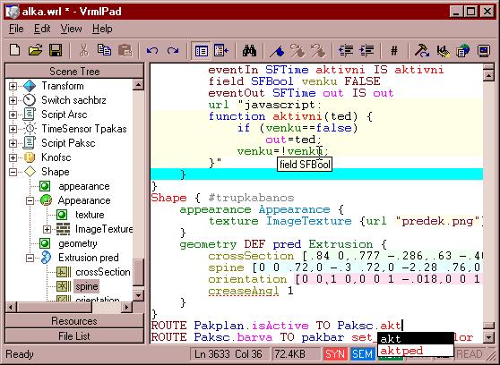 VrmlPad Screenshot 1