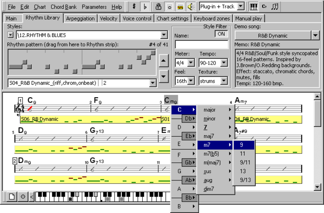 Rhythm'n'Chords MIDI FX Screenshot