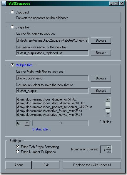 TABS2spaces Screenshot