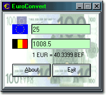 EuroConvert Screenshot