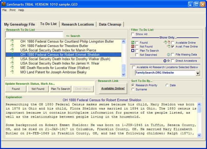 GenSmarts Screenshot