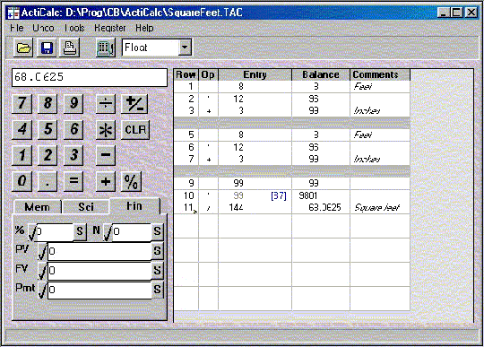 ActiCalc Desktop Calculator Screenshot 1