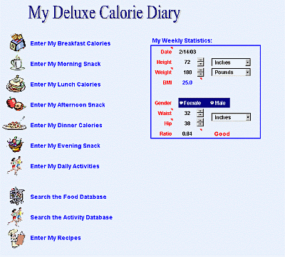 My Deluxe Calorie Diary Screenshot