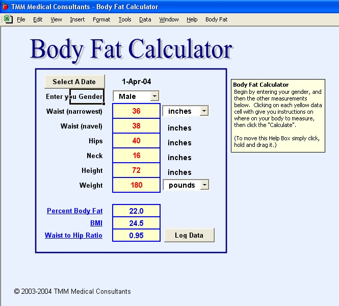 Body Fact Calculator Screenshot
