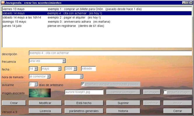 Javagenda Screenshot 1