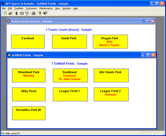 APT Sports Scheduler Screenshot 1