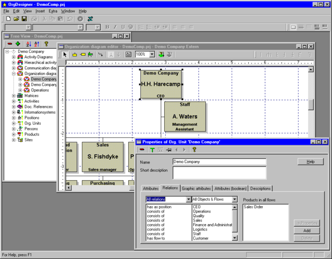 OrgDesigner Screenshot