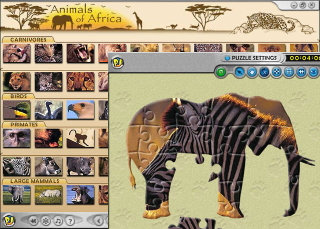 Playtonium Jigsaw - Animals of Africa Screenshot 1