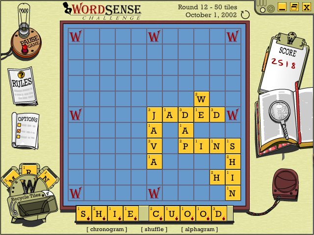 Wordsense Challenge Screenshot