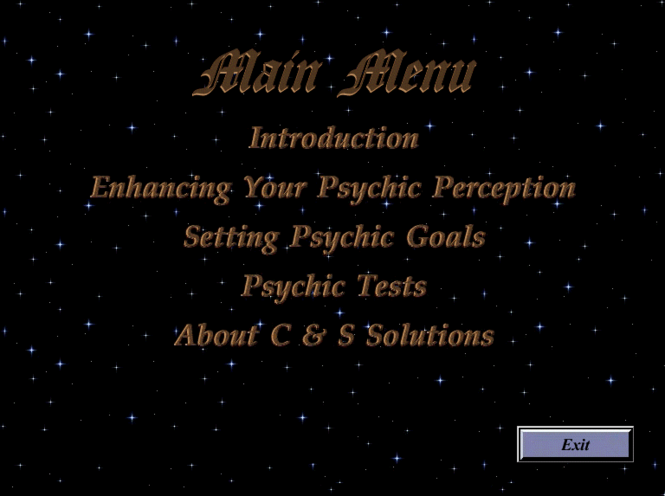 The Psychic Development Studio Screenshot 1