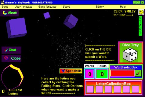 Nimmers Star Words Screenshot 1