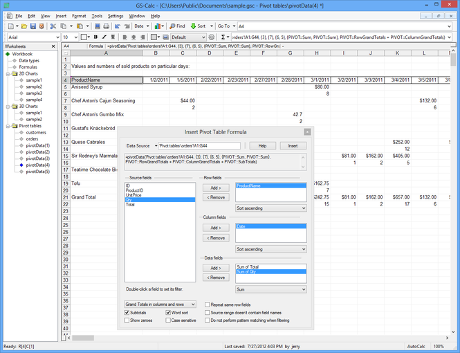 GS-Calc Screenshot 2
