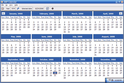 AMP Calendar Screenshot