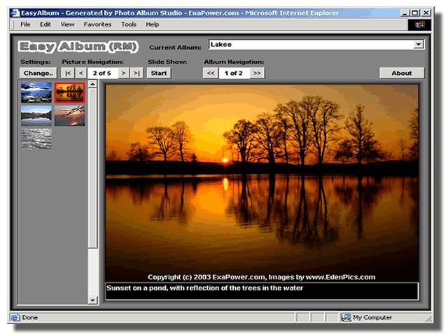 Photo Album Studio Screenshot