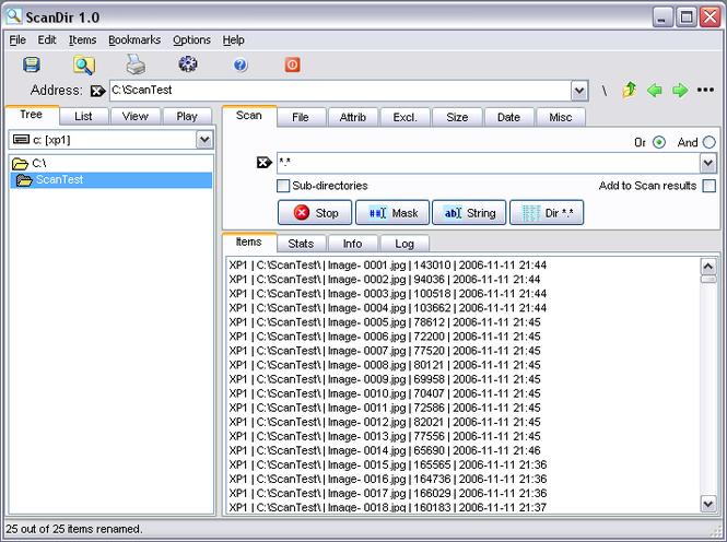 ScanDir Screenshot 1