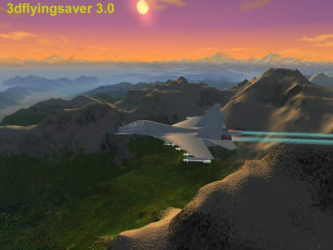 3dflyingsaver Screenshot
