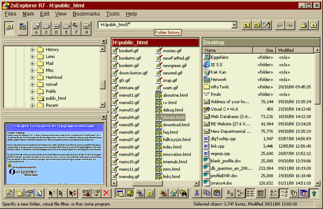 2xExplorer Screenshot