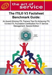 The ITIL V3 Factsheet Benchmark Guide: An Award-Winning ITIL Trainers Tips On Achieving ITIL V3 And IT Screenshot 1