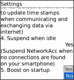 NetworkAcc - Mobile Network Accelerator Screenshot 1