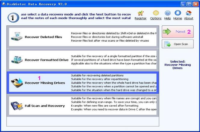 DiskGetor Data Recovery Screenshot