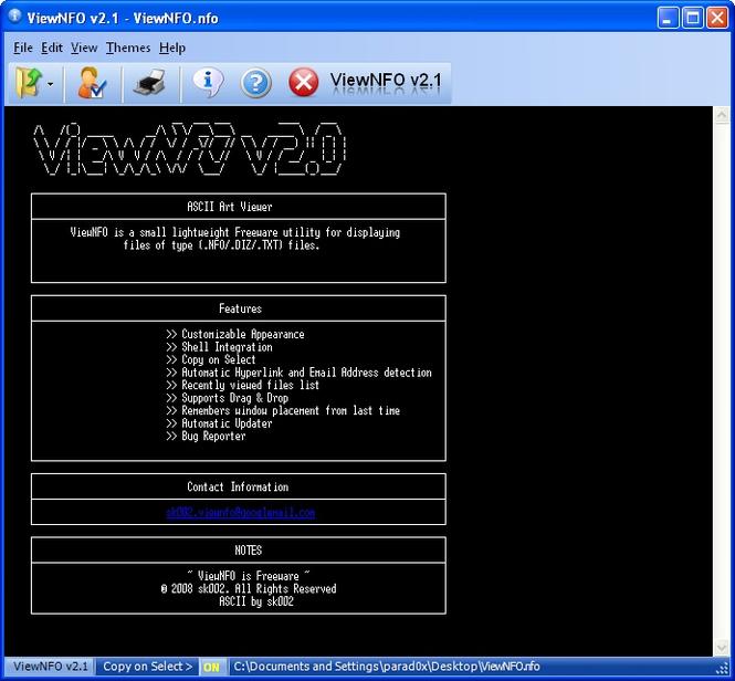 ViewNFO Screenshot