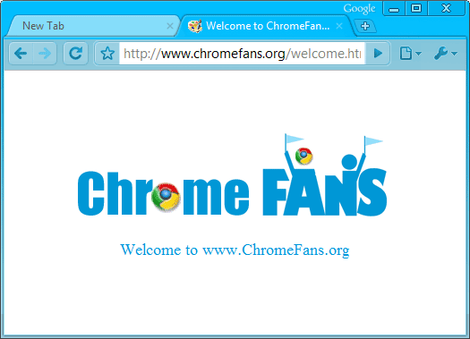 Deep Skyblue Google Chrome Theme Screenshot
