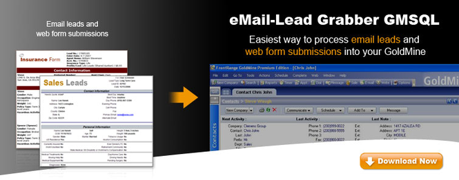 eMail-Lead Grabber GMSQL Screenshot 1