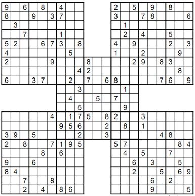 hard samurai sudoku Screenshot 1