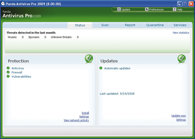 Panda Antivirus Pro Screenshot 1