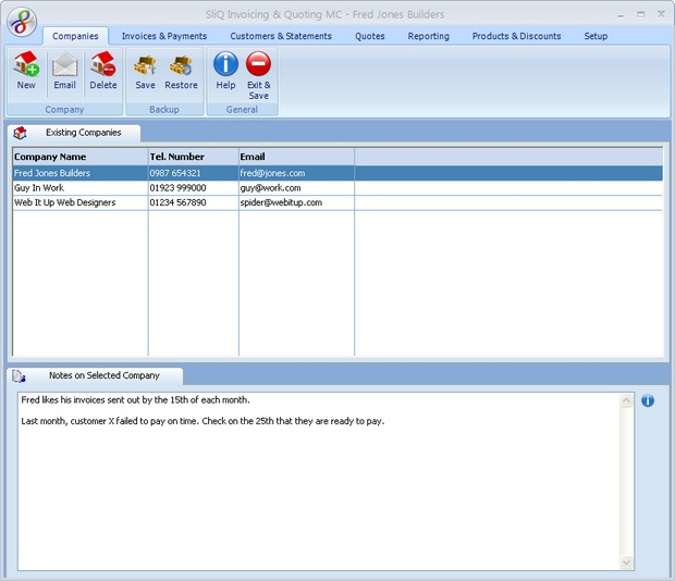 SliQ Invoicing and Quoting MC Screenshot 1