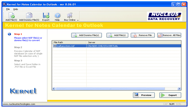 Lotus Notes Calendar to Outlook Screenshot 1