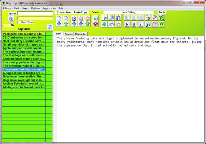 NoteFrog Screenshot