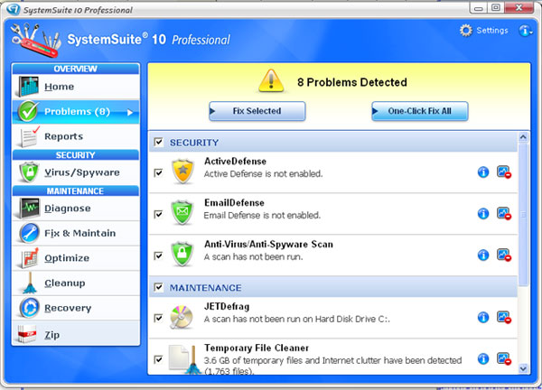 SystemSuite Professional Screenshot