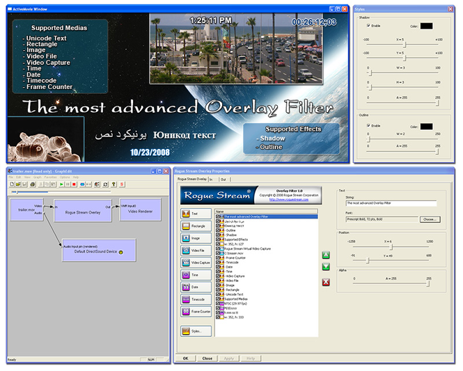 DirectShow Overlay Filter Screenshot 1