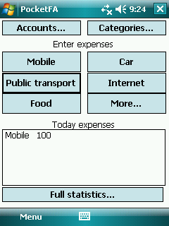 Pocket Finance Assistant Screenshot