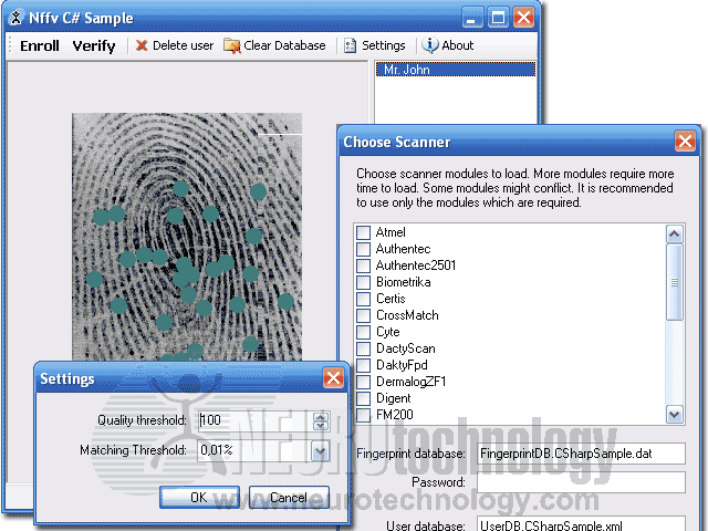 Free Fingerprint Verification SDK Screenshot