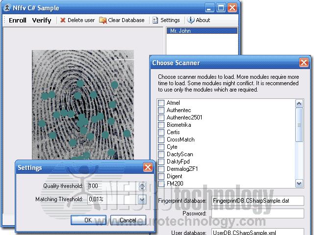 Free Fingerprint Verification SDK Screenshot 1