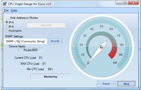 CPU Single-Gauge for Cisco Screenshot 1