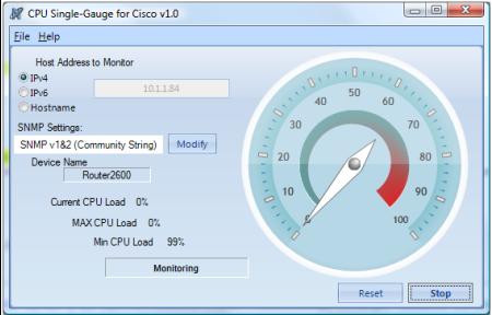 CPU Single-Gauge for Cisco Screenshot