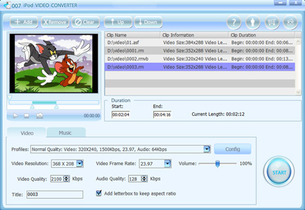 007 iPod Video Converter Screenshot