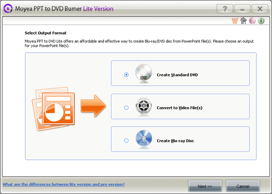 Moyea PPT to DVD Burner Lite Screenshot