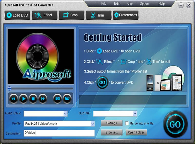 Aiprosoft DVD to iPad Converter Screenshot