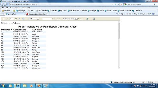 RdlcRptGen Class Screenshot