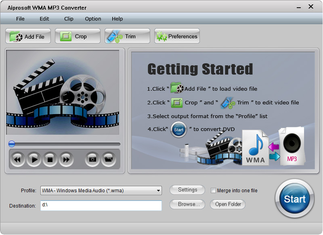Aiprosoft WMA MP3 Converter Screenshot