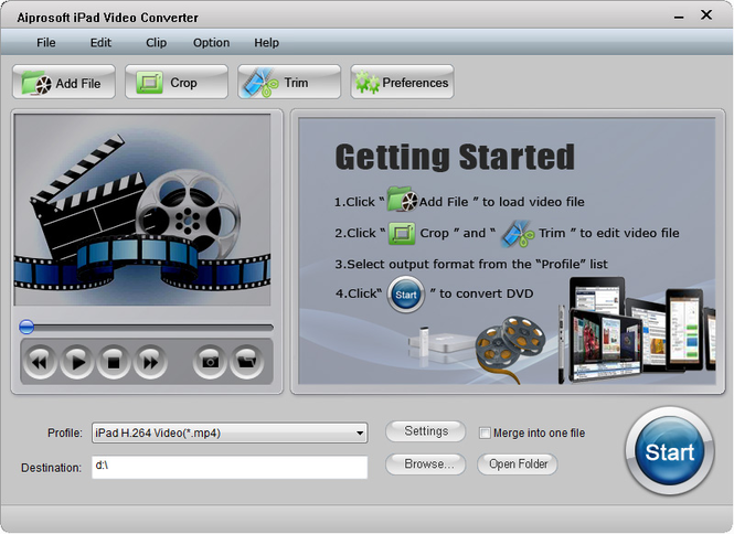 Aiprosoft iPad Video Converter Screenshot