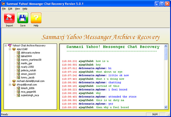 Yahoo Chat Messages Decoder Tool Screenshot